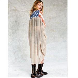 Free People Old Americana Cape Kimono ❤️🦄